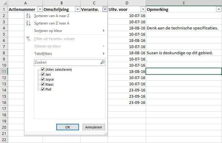 Citaten Zoeken Excel : Gegevens filteren in excel haal meer uit microsoft office