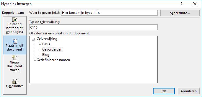 Hyperlink (hetzelfde bestand)