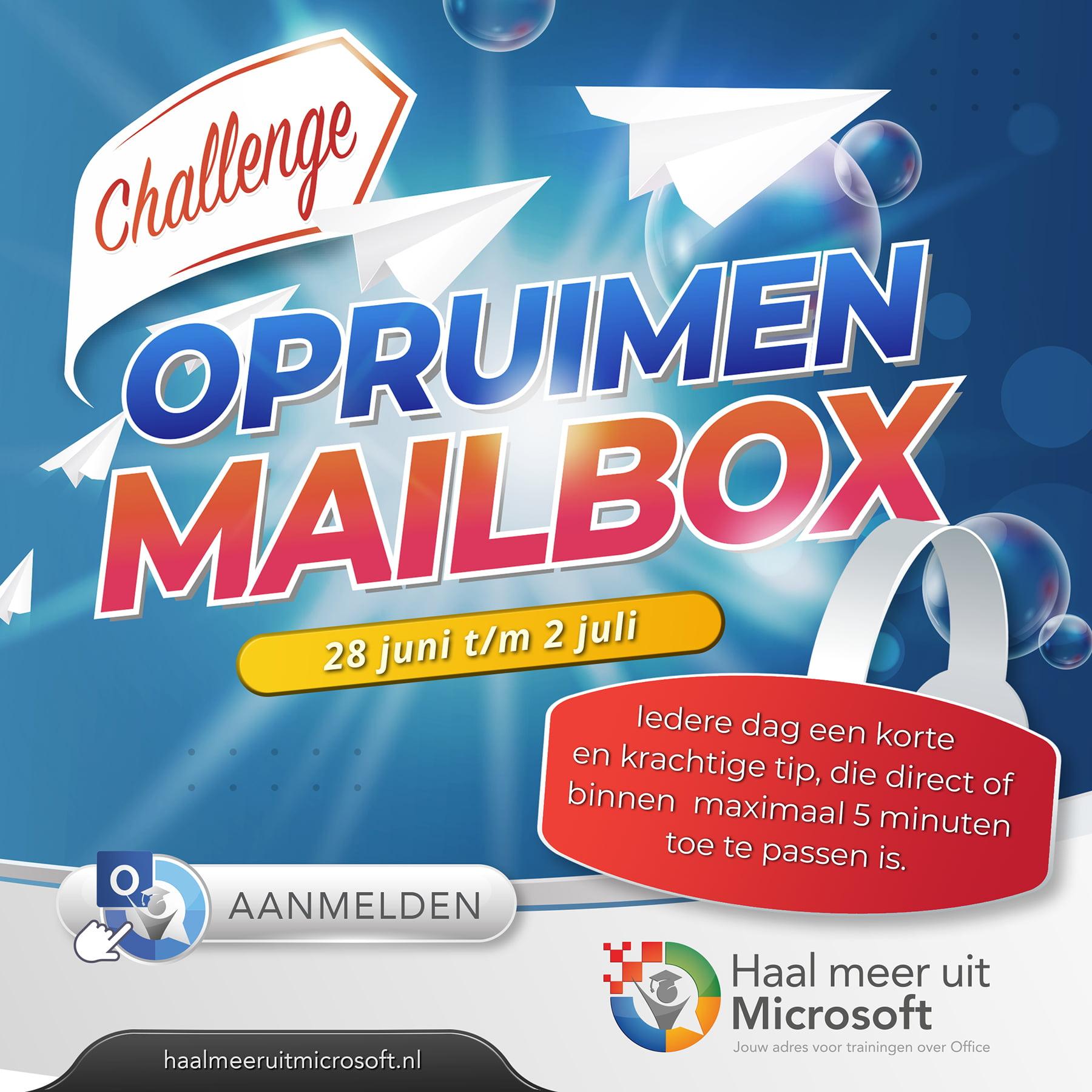 Aanmelden Challenge Opruimen Mailbox